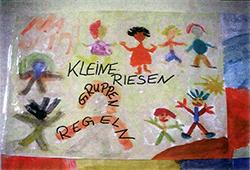 """Plakat zum Projekt """"Kleine Riesen"""" - Kinderzeichnung"""